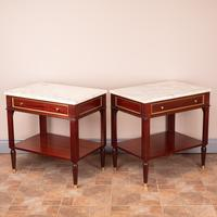 Pair of French Marble Topped Tables (2 of 14)