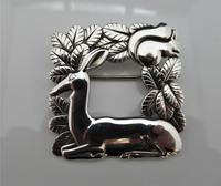 Georg Jensen/Arno Malinowski Silver Deer & Squirrel Brooch (4 of 7)