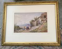 John Henry Mole Watercolour 'Cottage by the sea' (2 of 2)