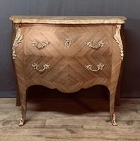 Superb Bleached Walnut Bombe Commode (3 of 9)