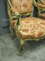 Pair of Italian Carved and Painted Armchairs (13 of 16)