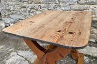 Antique Swedish Pine X-frame Trestle Table (8 of 21)