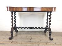 Victorian Rosewood Stretcher Table / Centre Table (13 of 15)