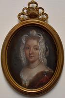 Louise Françoise de Bourbon Portrait Miniature on Copper