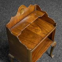 Early 20th Century Small Mahogany Bookstand (5 of 7)