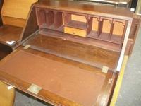 Three Drawer Oak Bureau (3 of 4)