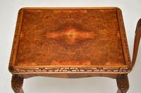 Pair of Antique Queen Anne Style Burr Walnut Side Tables (6 of 8)