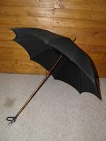 Antique Hallmarked 1919 Silver Umbrella with Black Canopy by Hoyland (2 of 13)