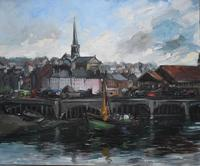 French School Honfleur Circle of Fernand Herbo c.1950 (4 of 8)