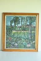 Early 20th Century British School A Town Garden Oil on Board (3 of 9)