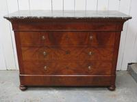 Antique Walnut Marble Top Chest of Drawers (9 of 9)