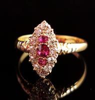 Victorian Ruby & Diamond Navette Ring (11 of 14)