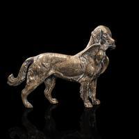 Antique Retriever Statue, English, Brass, Decorative, Dog Ornament, Victorian (2 of 12)