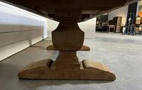 Enormous French Bleached Oak Farmhouse Dining Table (17 of 38)