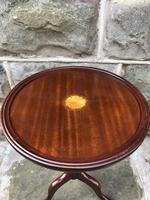 Inlaid Mahogany Tripod Wine Table (4 of 5)