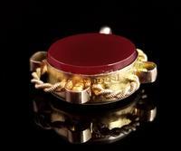 Antique 9ct Gold Compass Pendant, Carnelian (4 of 13)