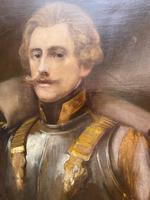 Military Officer In Armour Oil Portrait Painting On Canvas (3 of 10)