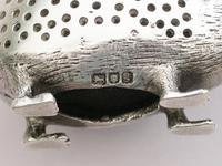 Edwardian Novelty Cast Silver Porcupine Pin Cushion (13 of 15)