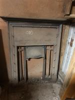 Antique Edwardian Cast Iron Fireplace Surround with Mantelpiece