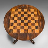 Antique Games Table, English, Rosewood, Mahogany, Chess Board, Victorian c.1880 (8 of 12)