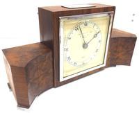 Perfect Burr Walnut Vintage Mantel Clock Art Deco Mantle Clock by Elliott of London (3 of 10)