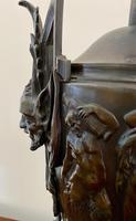 Magnificent Pair of Heavy Bronze Lamps (8 of 11)