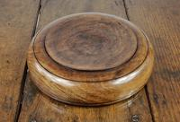 Large 19th Century Turned Lignum Vitae Fruit Bowl (5 of 6)