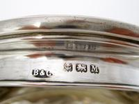 Silver & Pink Enamel Dressing Table Jar with a Mirror Under the Lid (5 of 5)