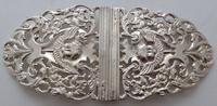 Victorian 1898 Hallmarked Solid Silver Nurses Belt Buckle W Davenport Maternity (2 of 7)