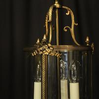 French Gilded Bronze Triple Light Lantern (3 of 10)