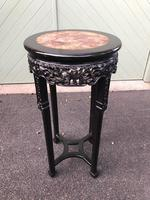 Antique Oriental Chinese Marble Top Stand