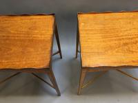 Pair of Edwardian Satinwood Occasional Tables (2 of 11)