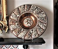 Gordon Forsyth, Copper Lustre Earthenware Shallow Footed Dish in Hispano Moresque Style c.1930 (8 of 8)