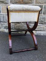 Antique Carved Walnut X Frame Stool (6 of 9)
