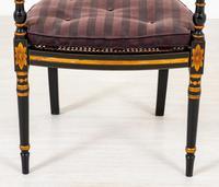 Pair of Ebonised Regency Style Open Armchairs (4 of 9)