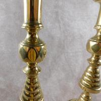Pair of 19th Century Victorian Brass Candlesticks (2 of 5)