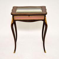 Antique French Inlaid Rosewood Bijouterie Display Table (3 of 15)
