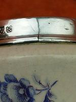 Antique Sterling Silver Hallmarked Topped 1923 Art Deco Ceramic Vases, Chester (7 of 9)