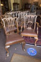 10 Chippendale style Mahogany Dining Chairs (5 of 5)