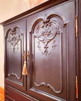 French Antique Style Cabinet / Black Cupboard / Louis XV Style (10 of 10)