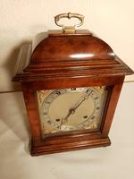Burr Walnut Mantel Clock. Elliottt of London (3 of 7)