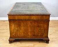 Antique Burr Walnut Partners Desk (6 of 18)