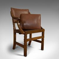 Set of 8, Antique Dining Chairs, Oak, Seat, Arts & Crafts, Hamptons, Edwardian (3 of 11)