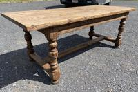French Rustic Bleached Oak Farmhouse Dining Table (5 of 15)