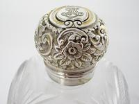 Unusual Large Square Shaped Late Victorian Silver Capped Perfume Bottle (6 of 8)