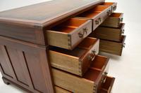 Georgian Style Mahogany Leather Top Pedestal Desk (11 of 12)