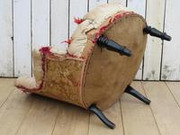 Antique French Button Back Chair For Re-upholstery (7 of 8)