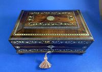 Regency Rosewood Table Box with Brass Foliate Inlay (9 of 12)