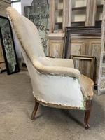 Antique French Balloon Back Armchair (2 of 6)