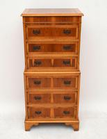 Antique Georgian Style Yew Wood Chest on Chest (4 of 13)
